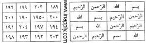 وفق بسم الله الرحمن الحریم